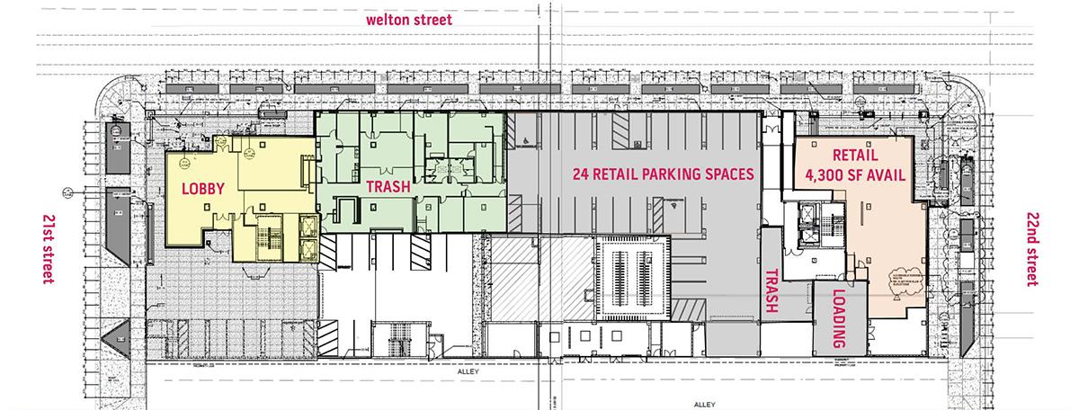 2100 Welton Street - Plan